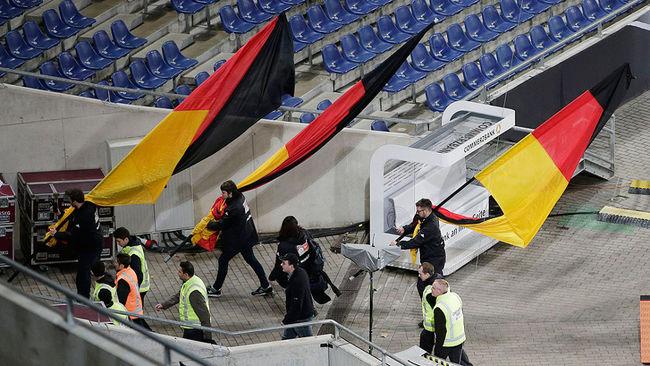 german soccer stadium evacuated