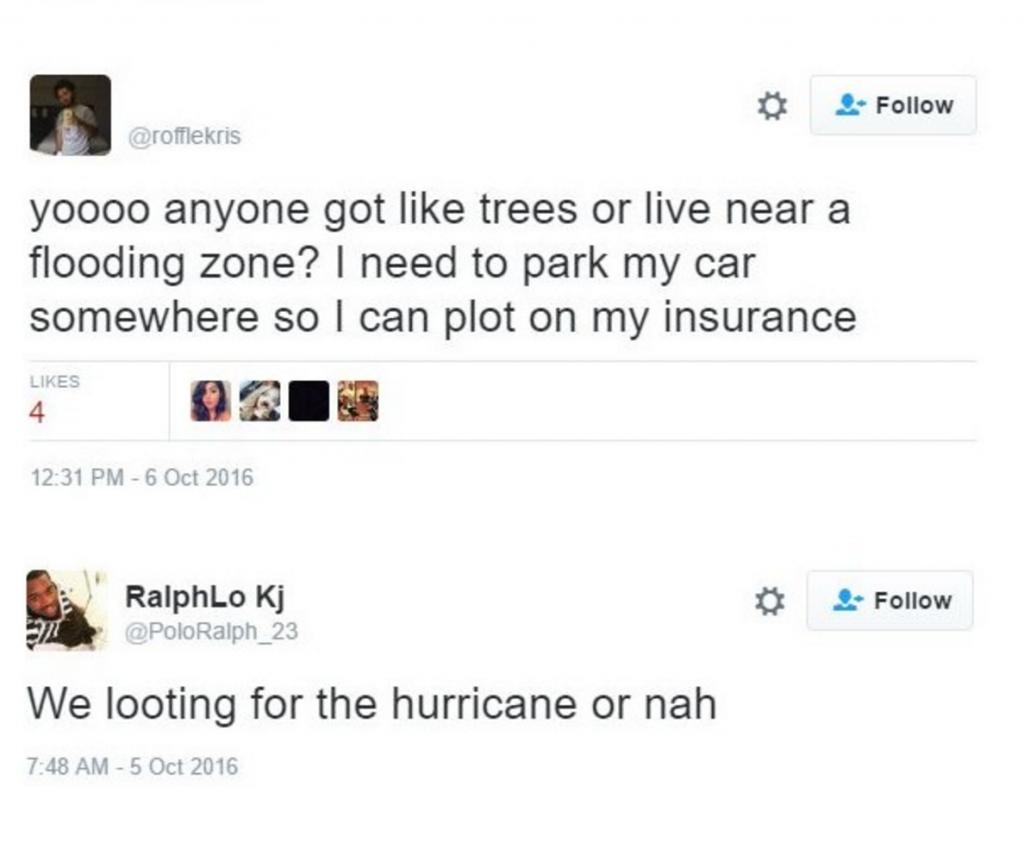 hurricane matthew looting