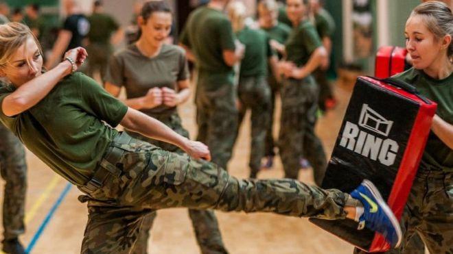 women military training