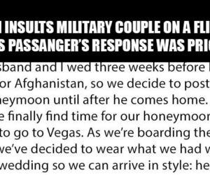 veteran insulted on plane