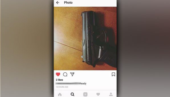 student suspended for liking gun