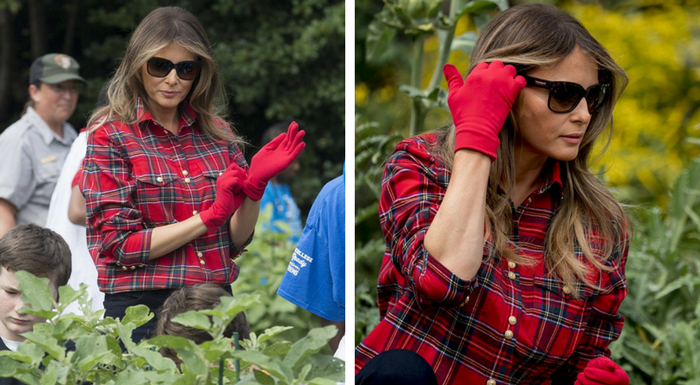 Melania Trumps Helps Harvest Vegetables From White House ...